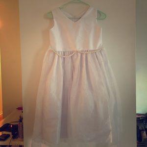White dress, girls 10-12 yo